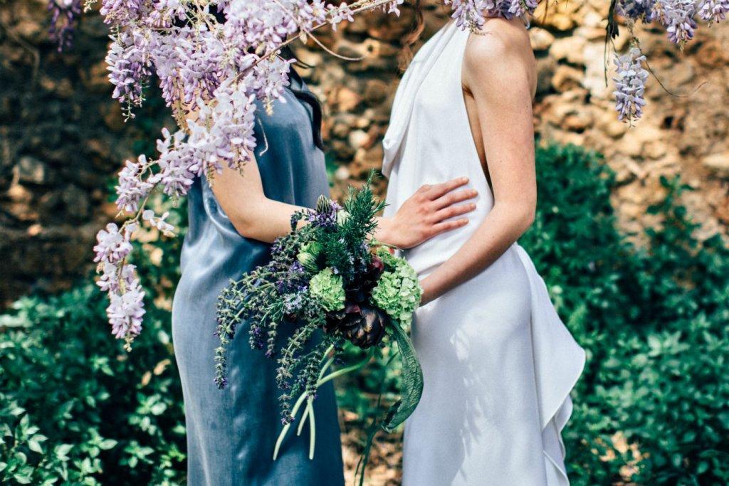 Italian garden wedding in Tuscany