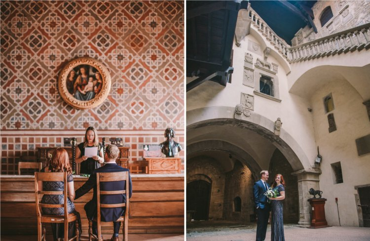 Timeless Beauty of a Castle Wedding Ceremony in Tuscany