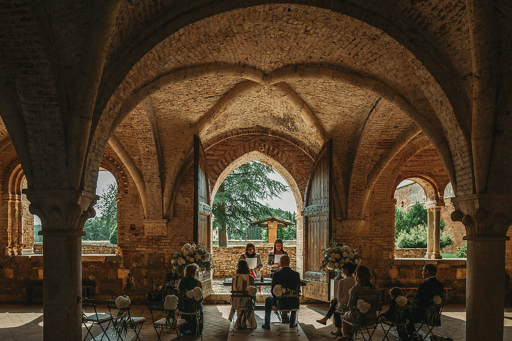Enchanting setting for a destination wedding at San Galgano Abbey