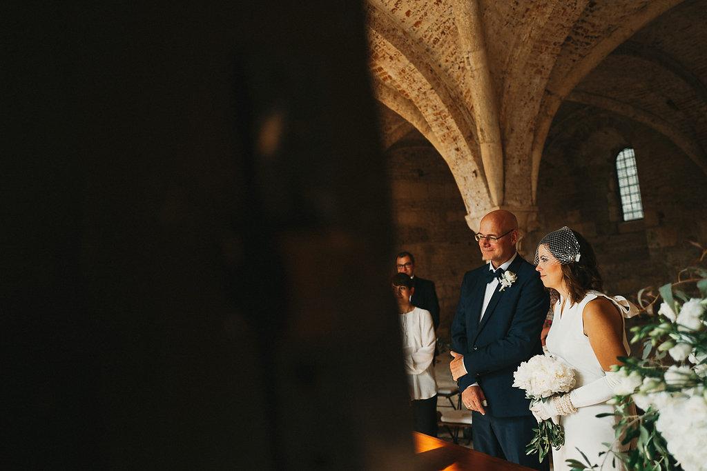 Plan B indoor wedding at San Galgano Abbey