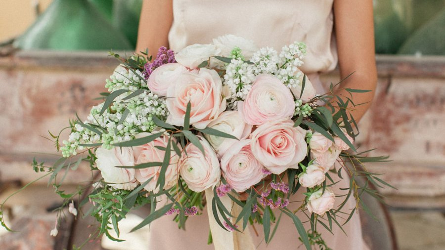 Elegant Blush Bridal Inspiration from Tuscany