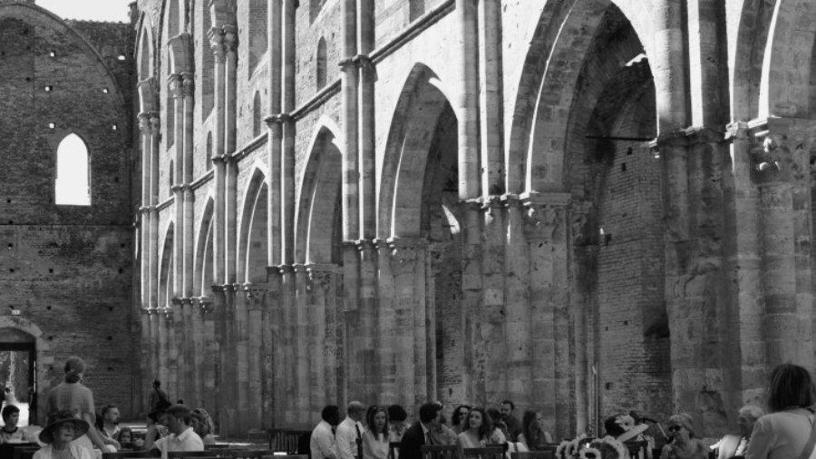 The Abbey of San Galgano romantic wedding
