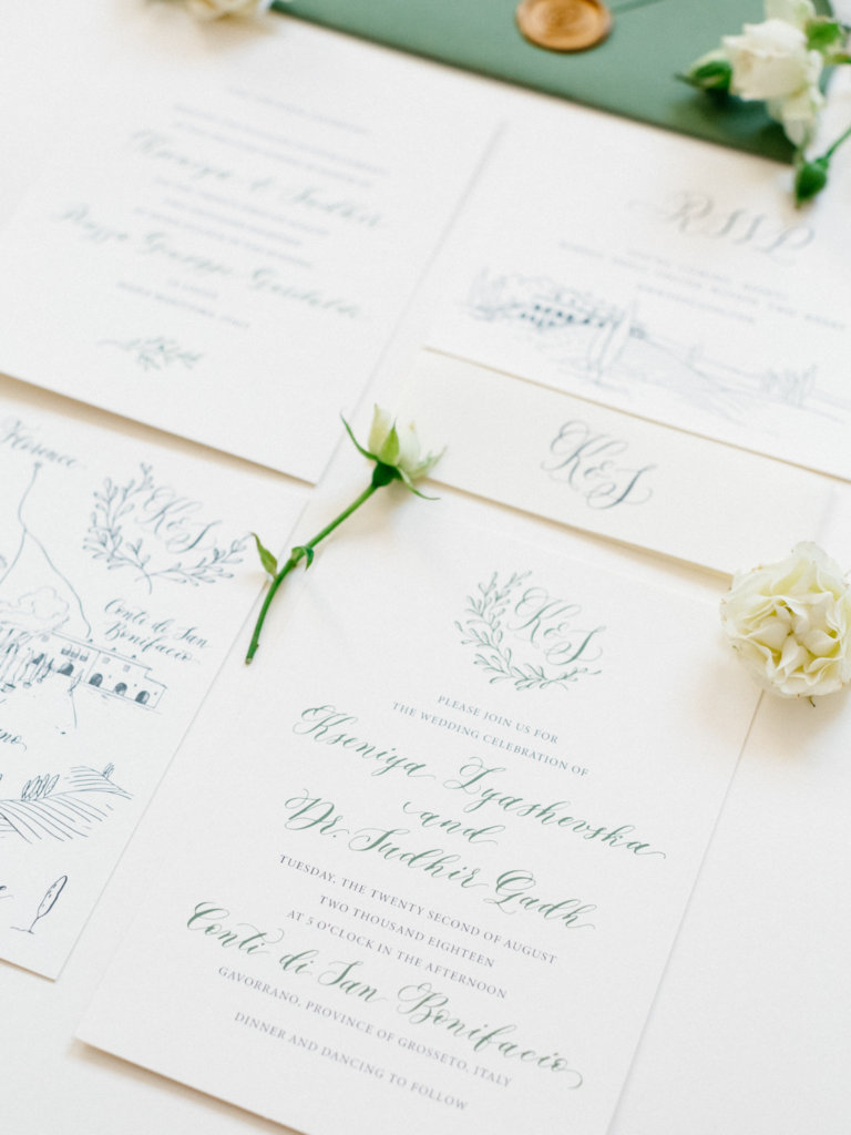 elegant wedding stationary - Italian weddings by Natalia