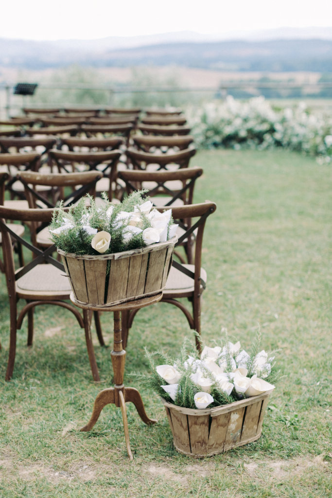 all natural elements wedding decor
