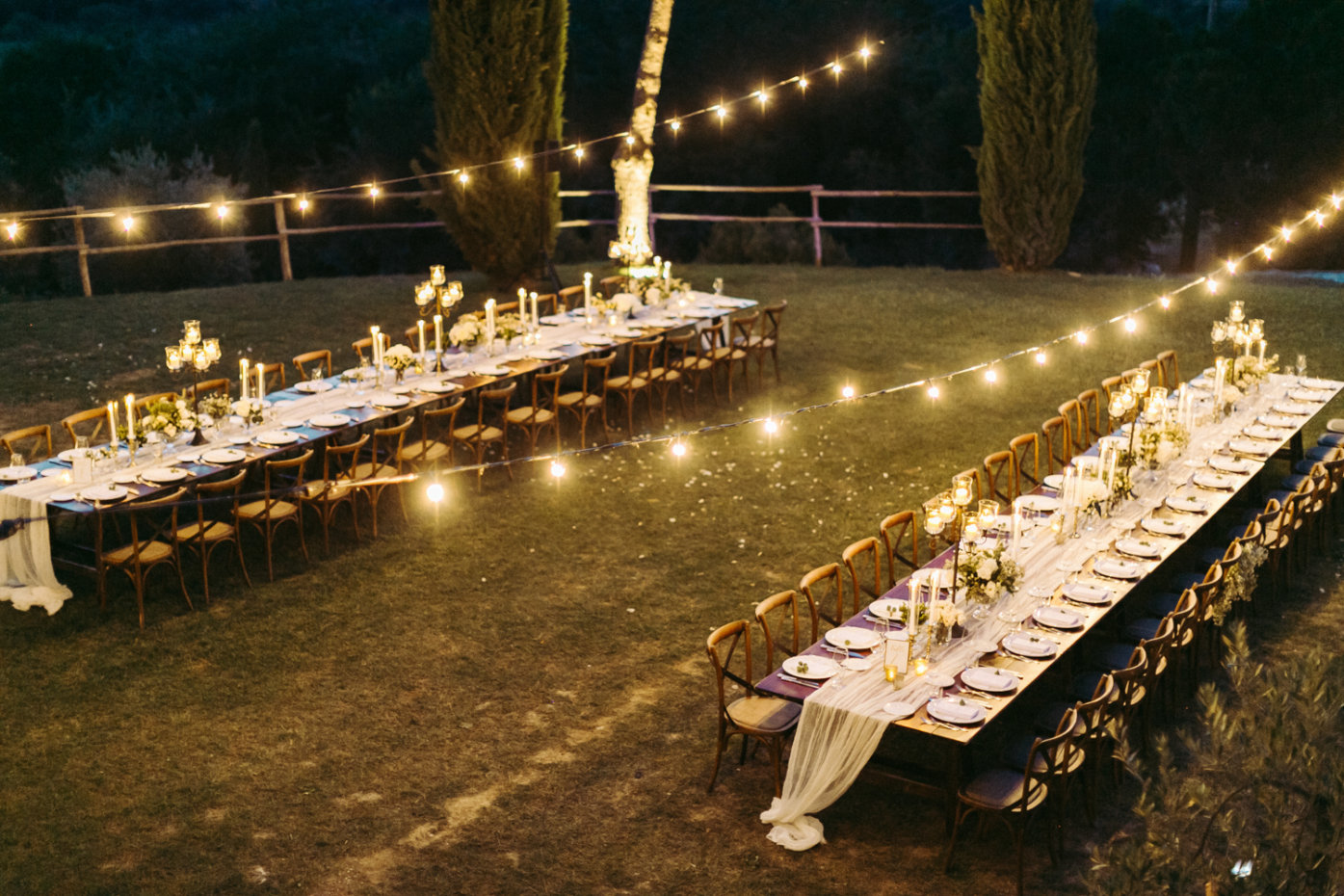 stylish wedding reception in Tuscany - Italian weddings by Natalia