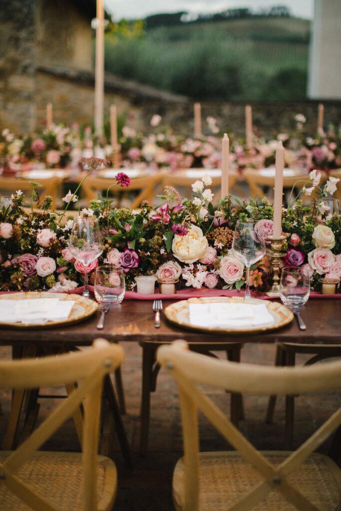 fall floral runner - Italian weddings by Natalia